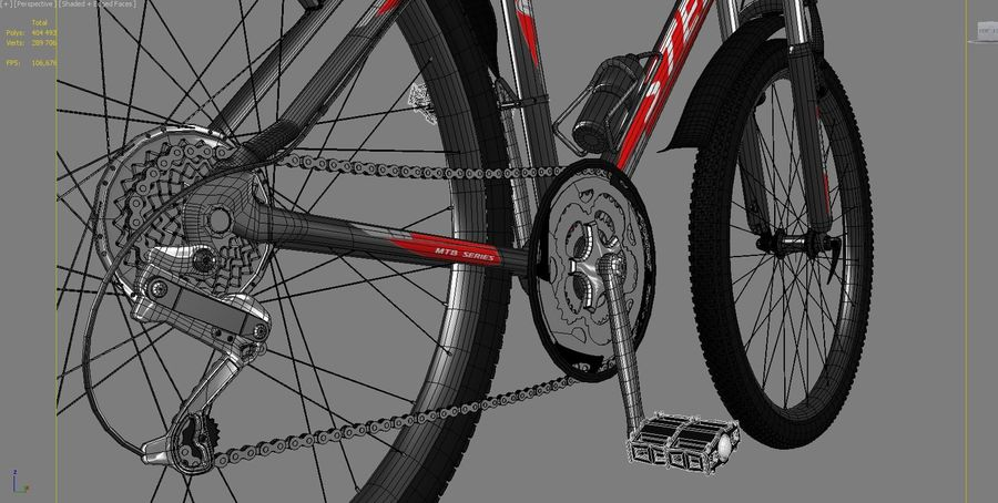 Bicycle Stels Navigator 600 royalty-free 3d model - Preview no. 5