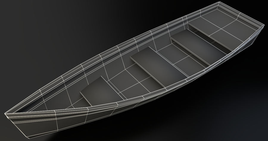 Old Barton Skiff Game Asset royalty-free 3d model - Preview no. 4