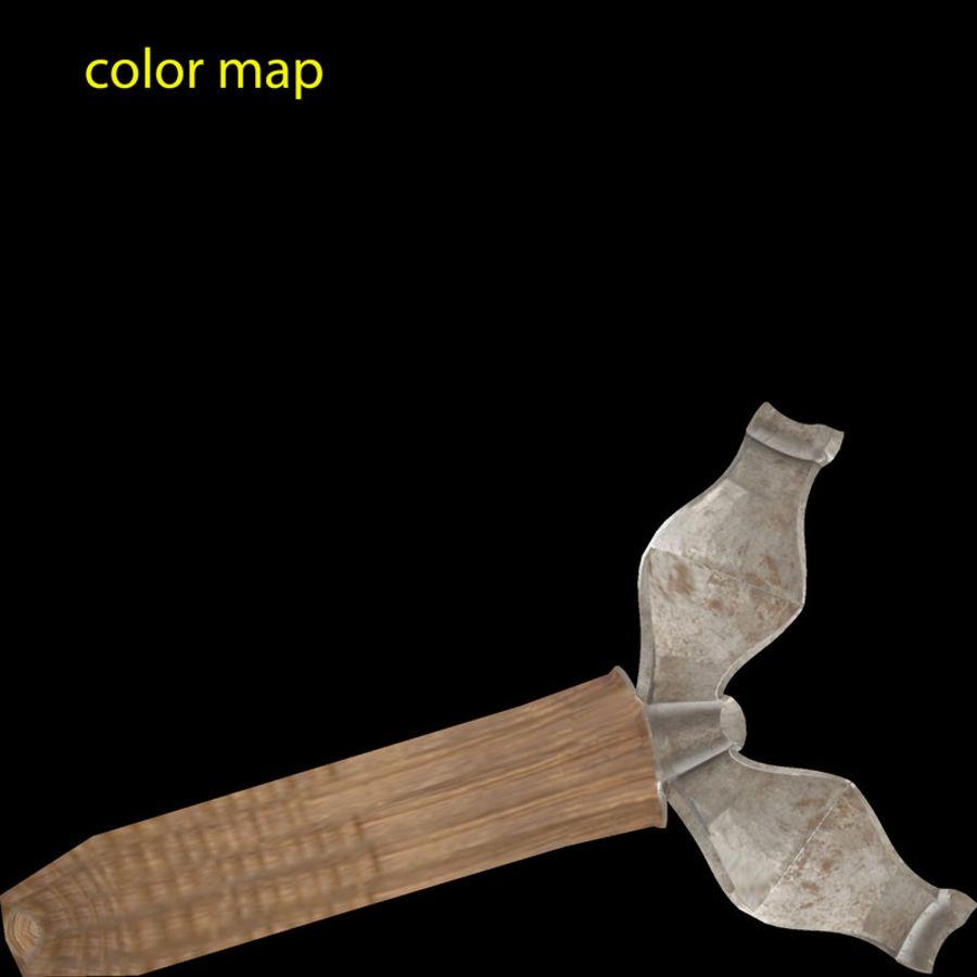 中世纪的斧头 royalty-free 3d model - Preview no. 5