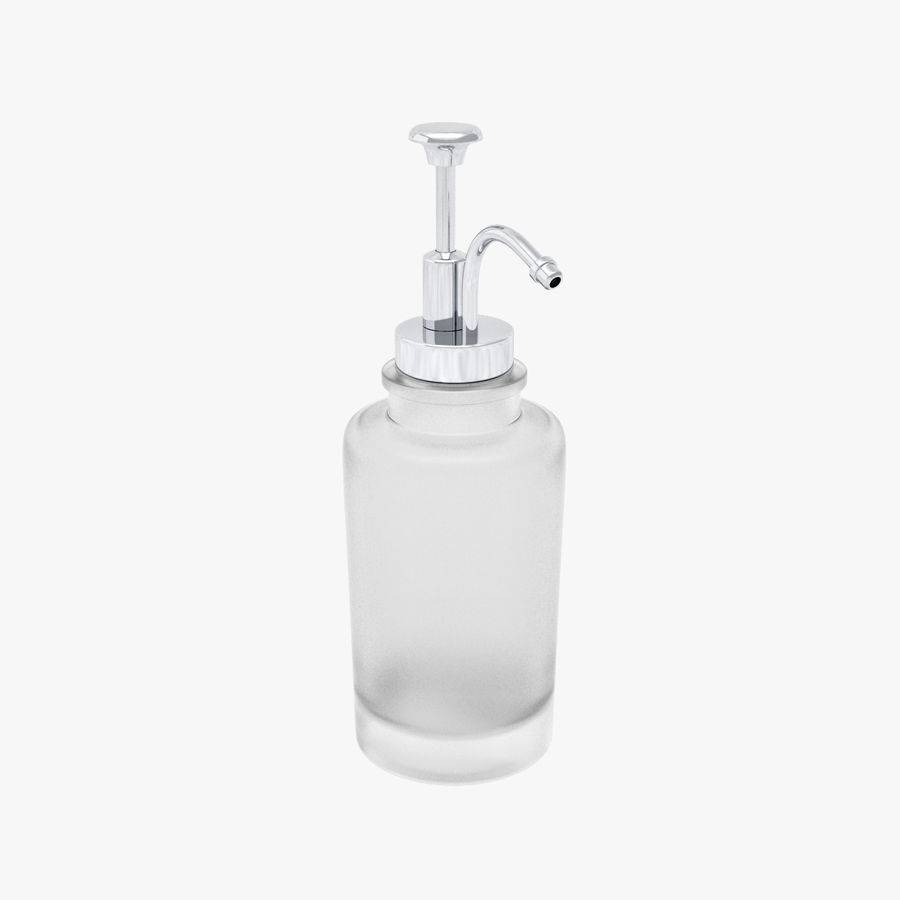 John Lewis Frosted Glass Soap Pump 3D Model $5 -  max - Free3D
