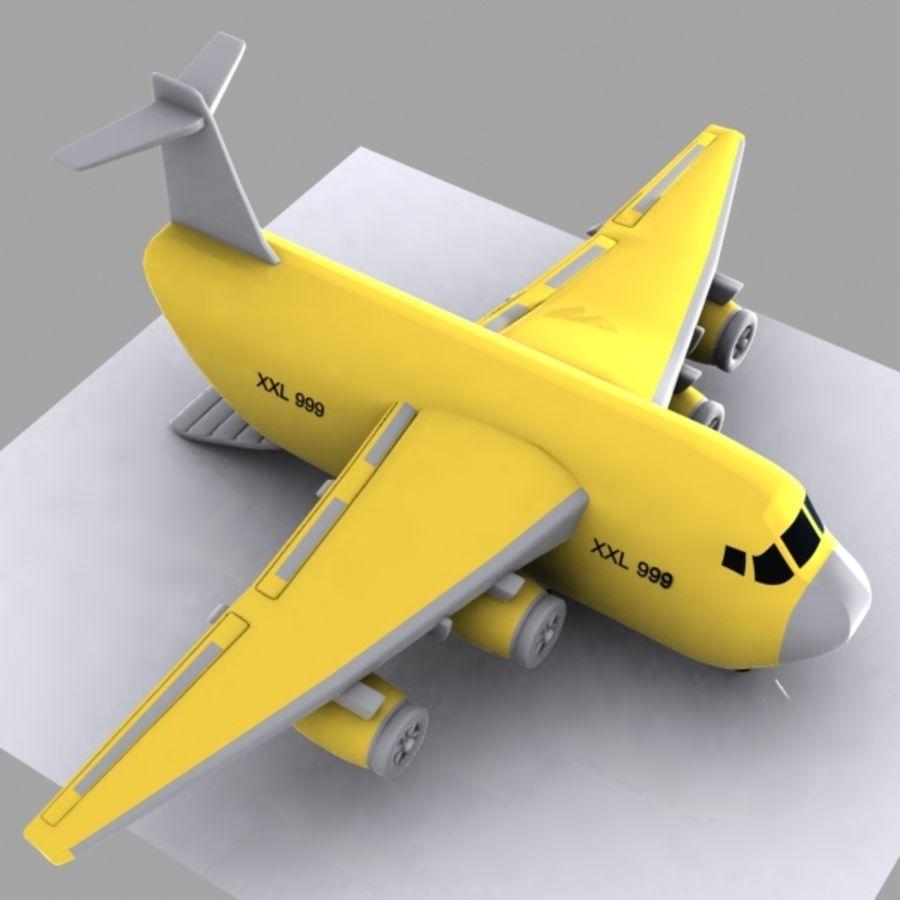 Cartoon Cargo Aircraft royalty-free 3d model - Preview no. 2
