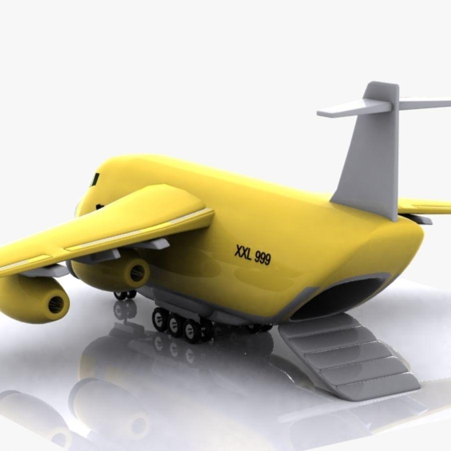 Avion cargo de dessin animé royalty-free 3d model - Preview no. 7