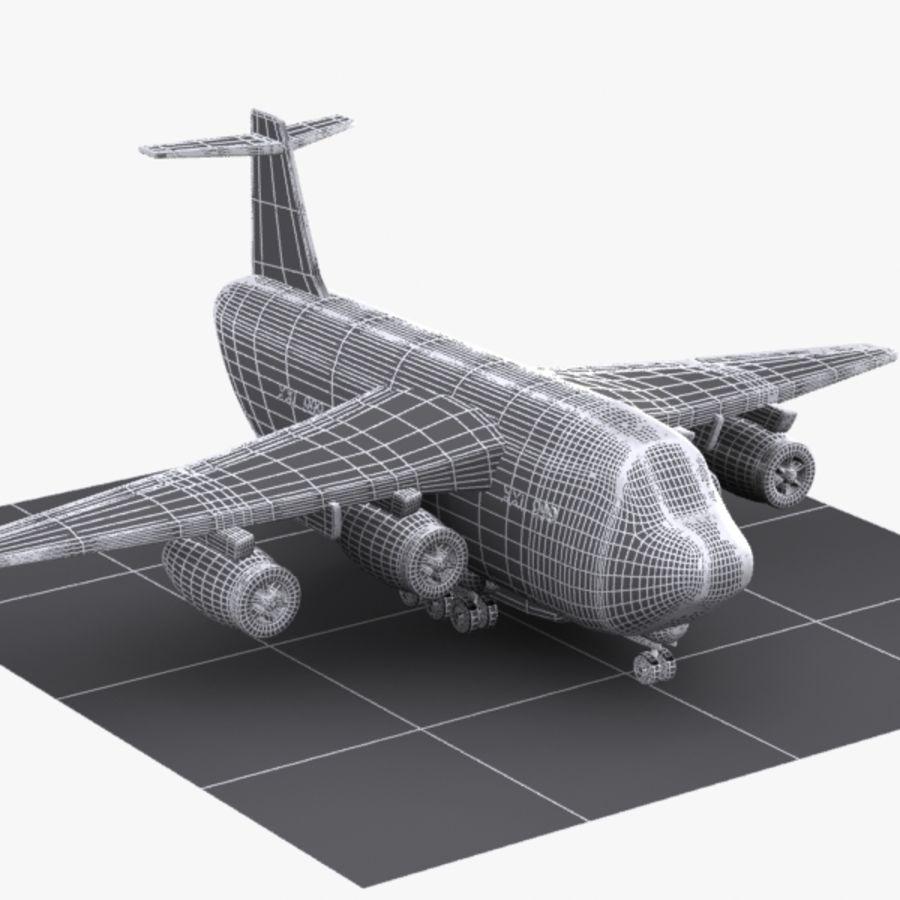 Avion cargo de dessin animé royalty-free 3d model - Preview no. 11