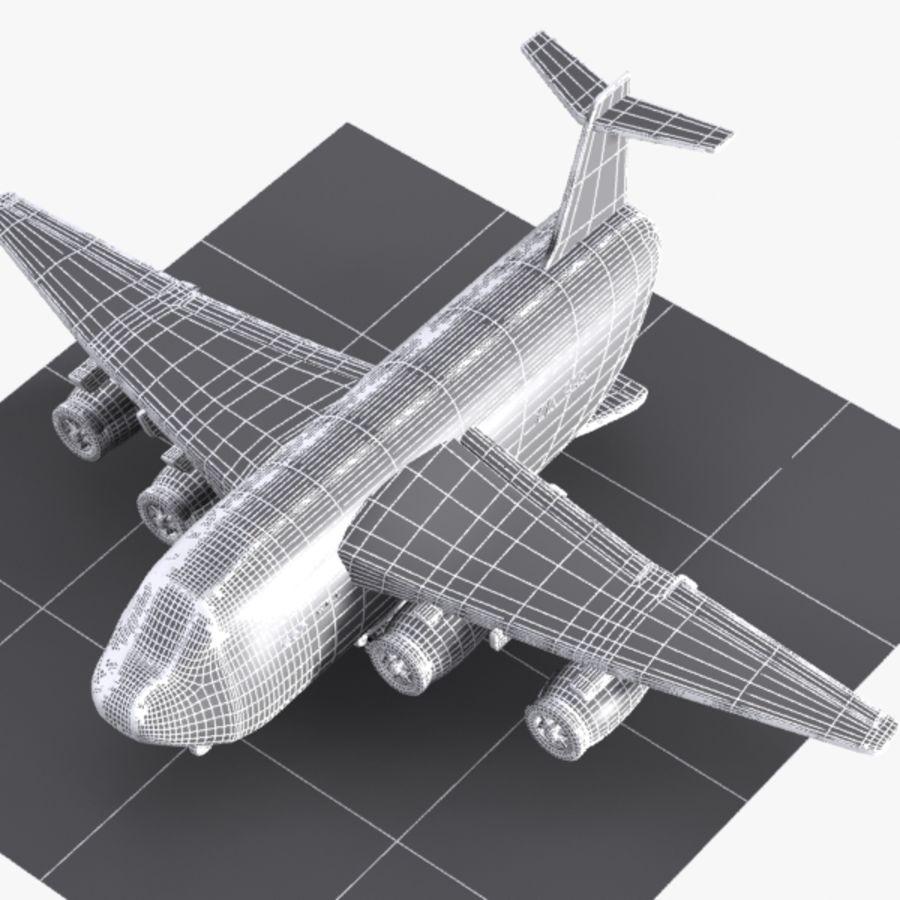 Avion cargo de dessin animé royalty-free 3d model - Preview no. 12