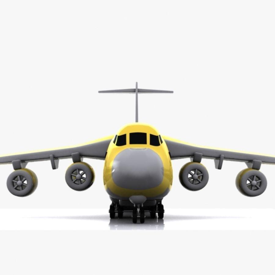 Avion cargo de dessin animé royalty-free 3d model - Preview no. 5