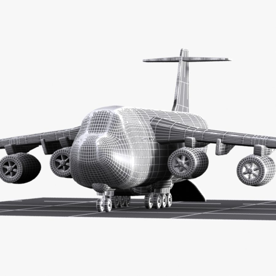 Avion cargo de dessin animé royalty-free 3d model - Preview no. 13