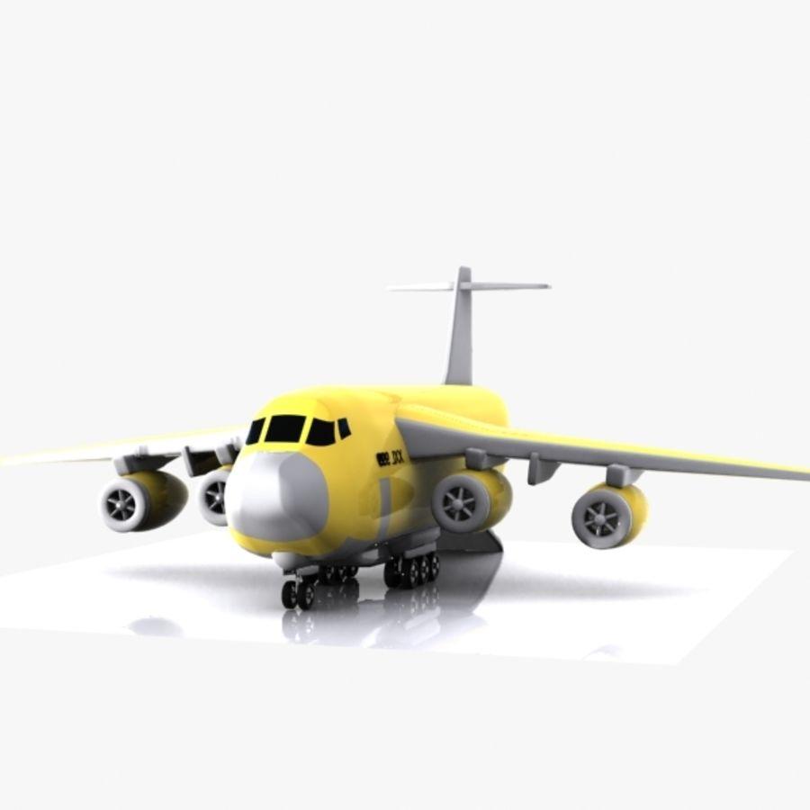 Avion cargo de dessin animé royalty-free 3d model - Preview no. 10