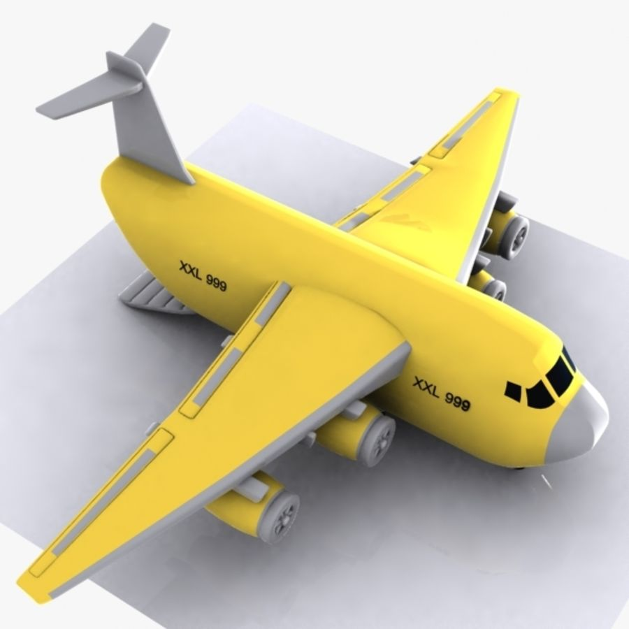 Avion cargo de dessin animé royalty-free 3d model - Preview no. 1