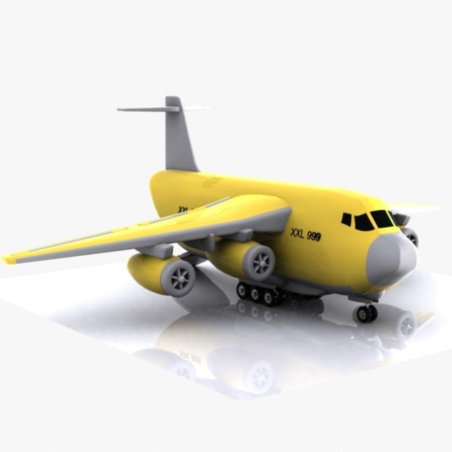 Avion cargo de dessin animé royalty-free 3d model - Preview no. 9