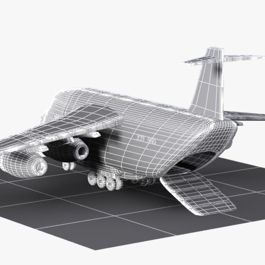 Avion cargo de dessin animé royalty-free 3d model - Preview no. 14
