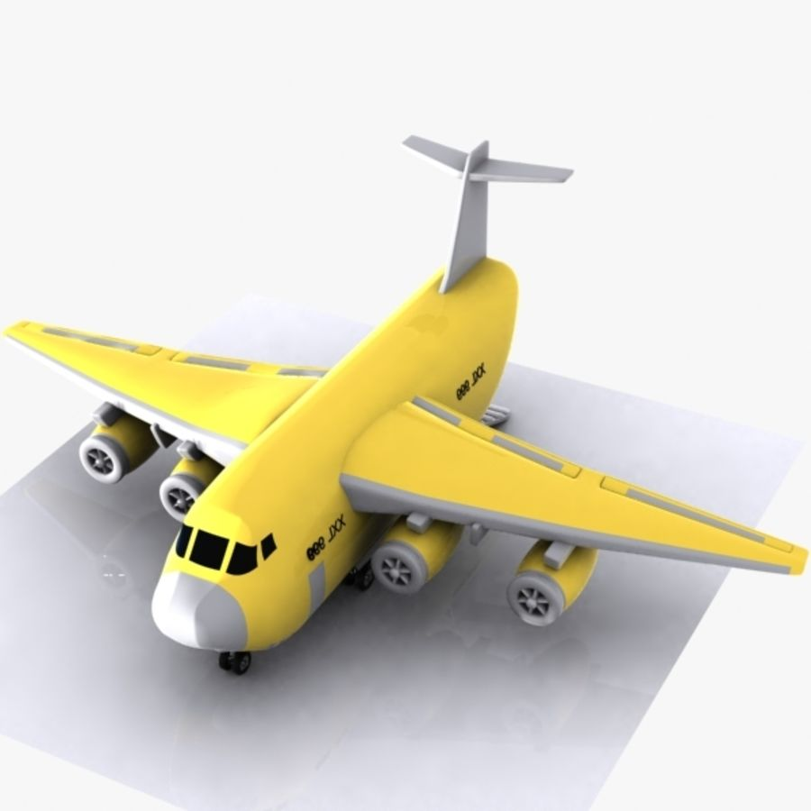 Avion cargo de dessin animé royalty-free 3d model - Preview no. 4
