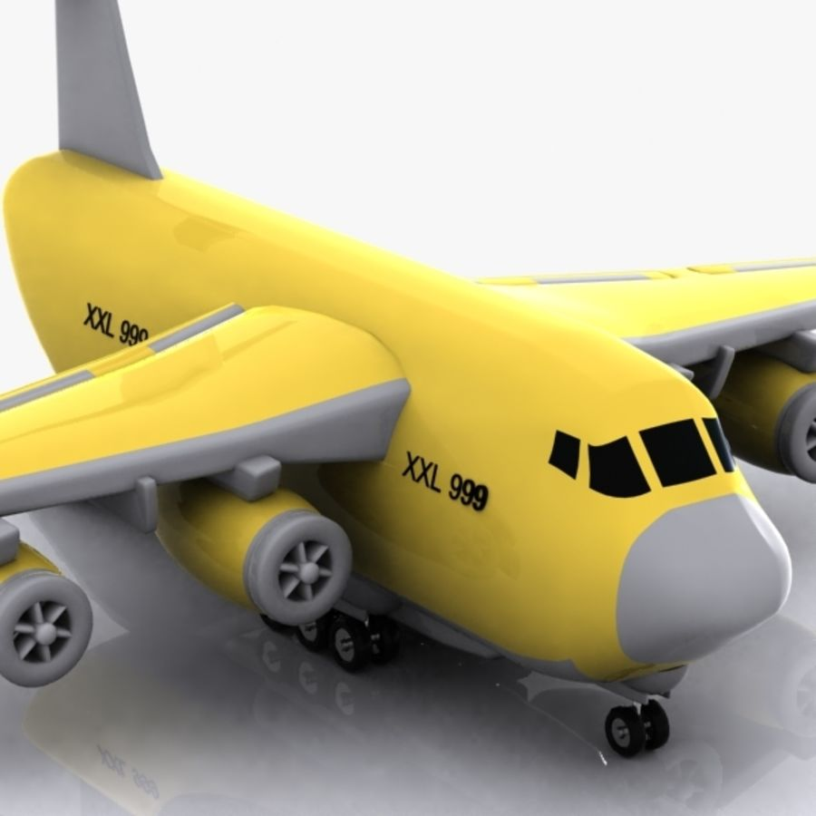 Avion cargo de dessin animé royalty-free 3d model - Preview no. 8