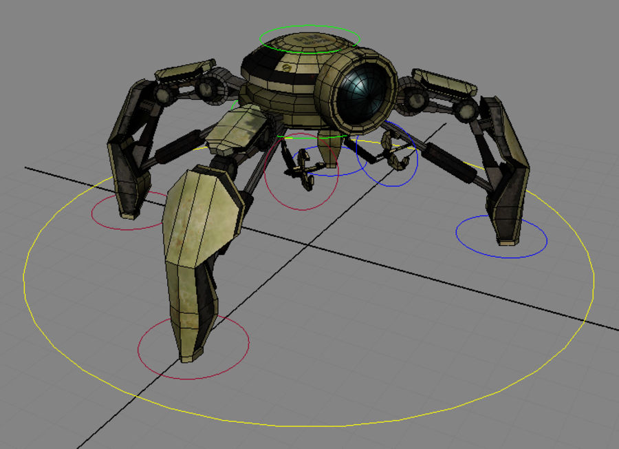 Mini Droid Rigged royalty-free 3d model - Preview no. 7