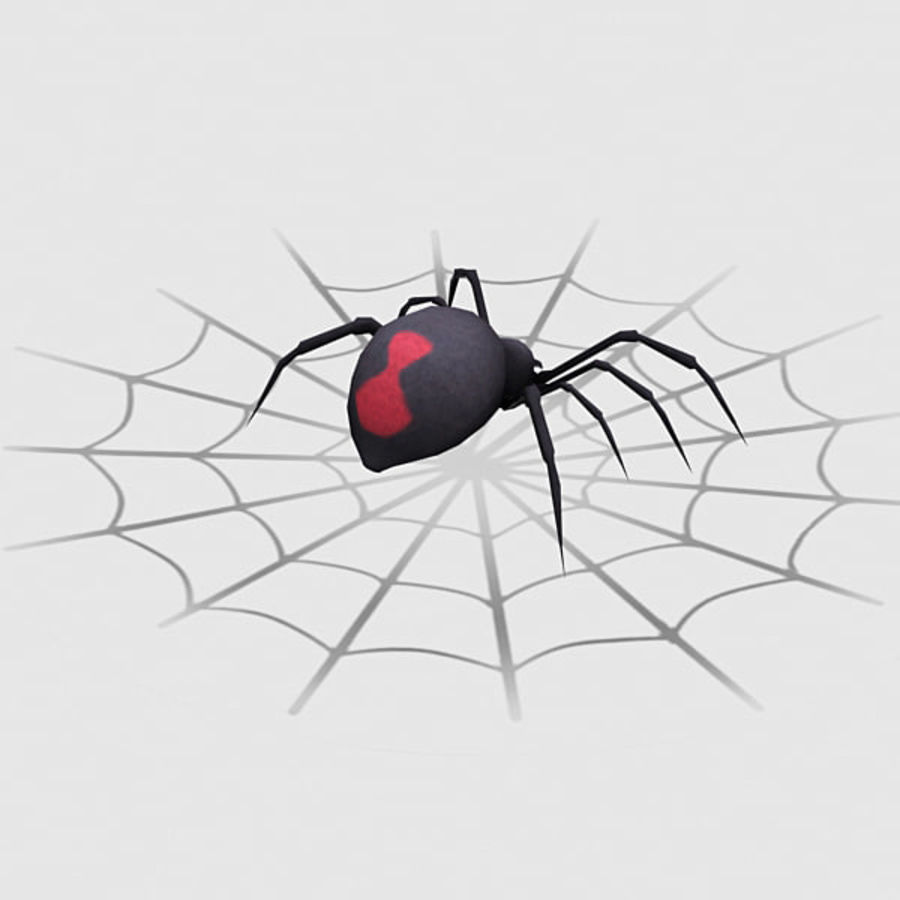 black widow spider royalty-free 3d model - Preview no. 6