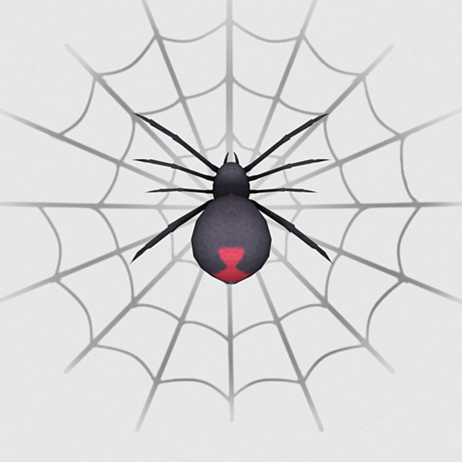 black widow spider royalty-free 3d model - Preview no. 4