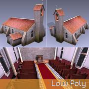 Low Poly Chapel 3d model