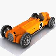 Cartoon Vintage Racing Car 2 3d model
