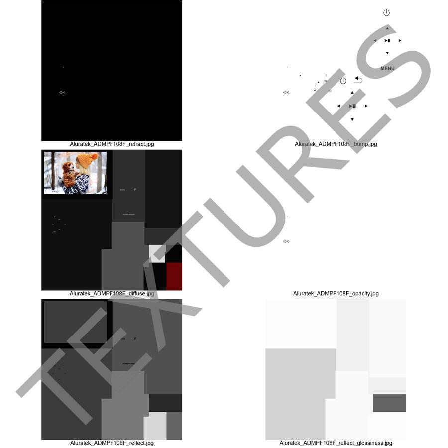Digital Photo Frame Aluratek 3D Model $19 - .max .obj .3ds .c4d .ma ...