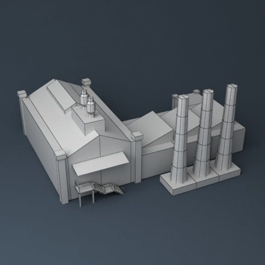 Lowpoly factory v2 royalty-free 3d model - Preview no. 8