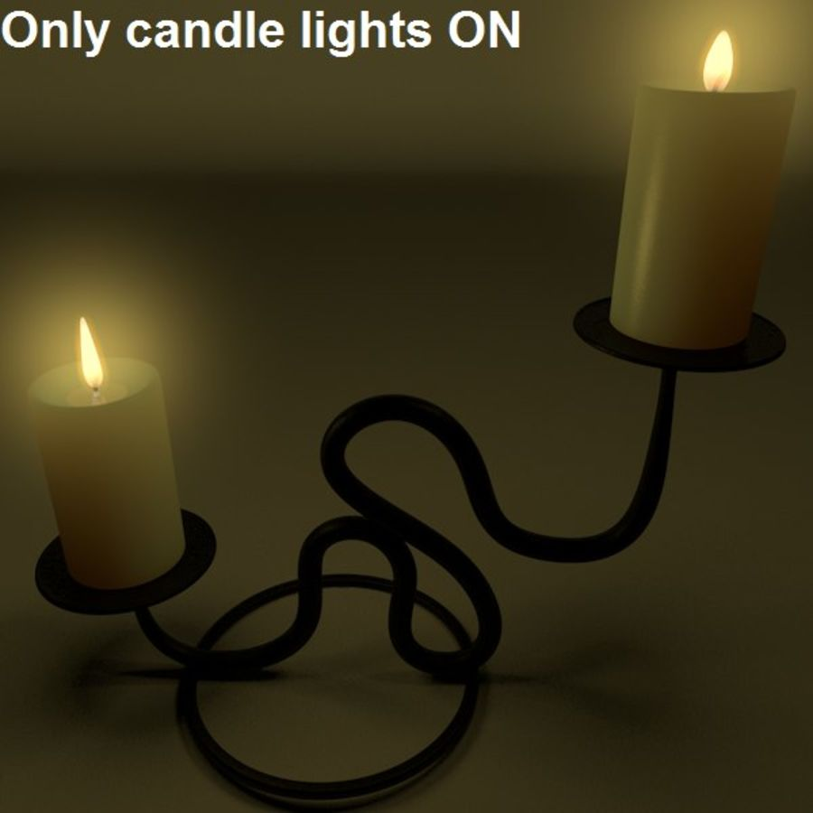 Realistic candle holder royalty-free 3d model - Preview no. 3