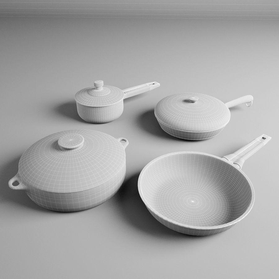 Pots & Pans Set royalty-free 3d model - Preview no. 11