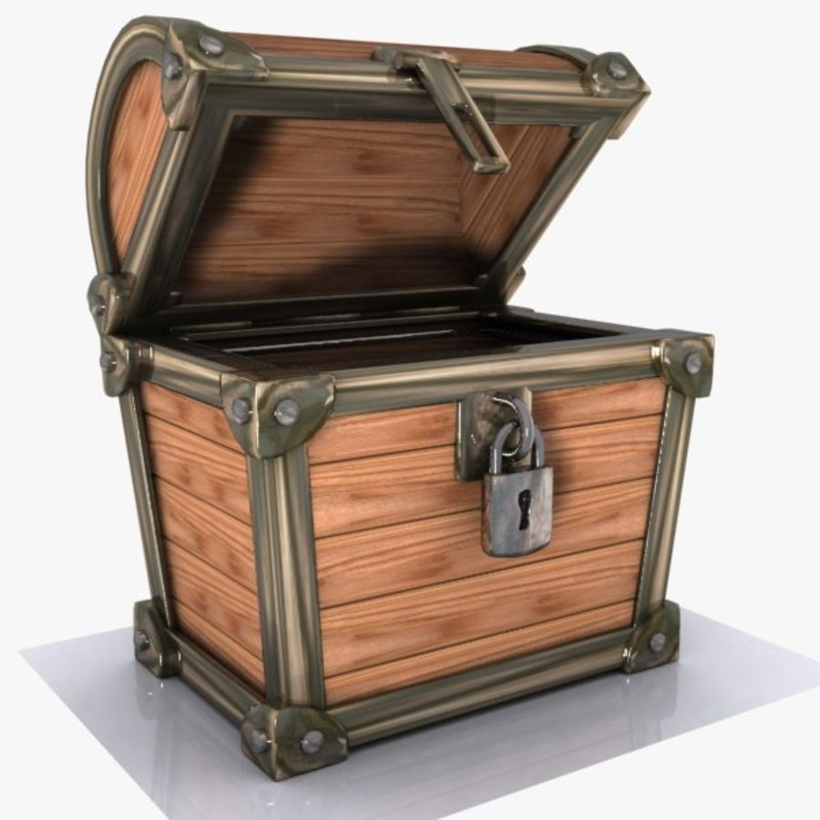 Crate Chest 3 royalty-free 3d model - Preview no. 1