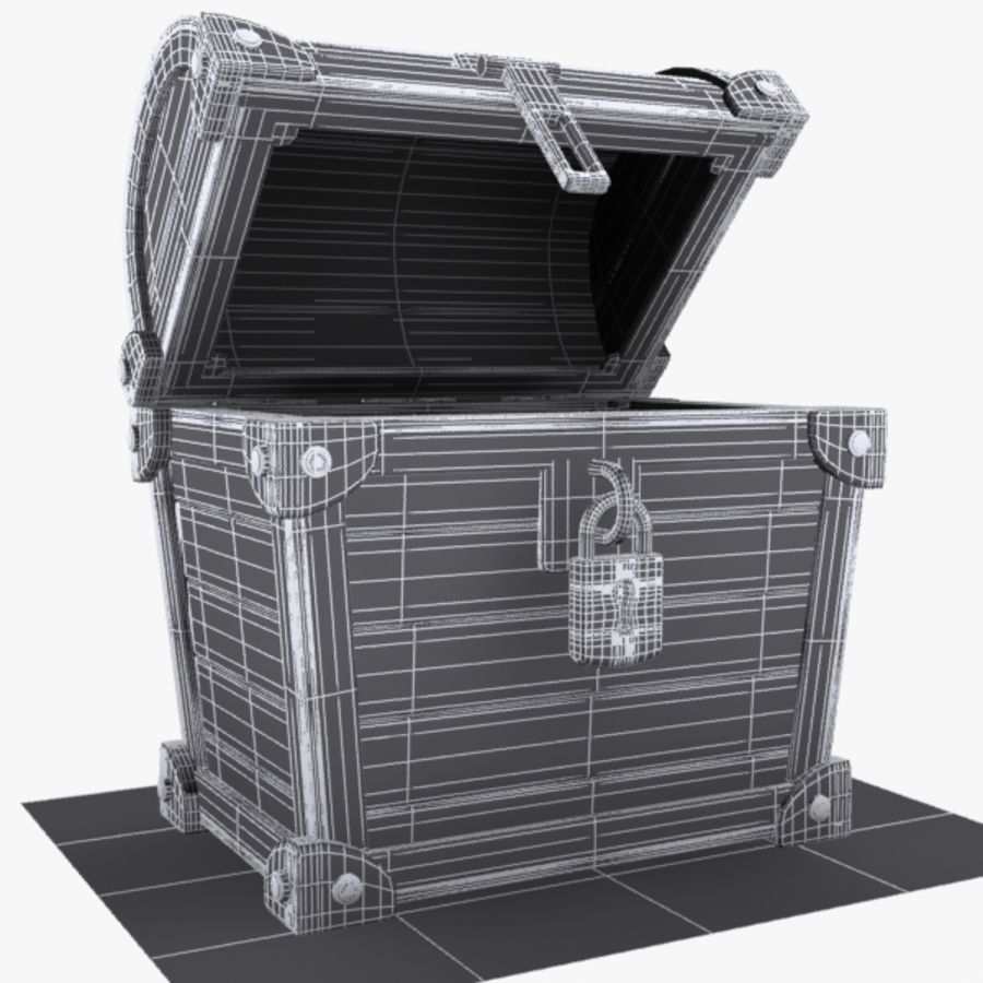 Crate Chest 3 royalty-free 3d model - Preview no. 7