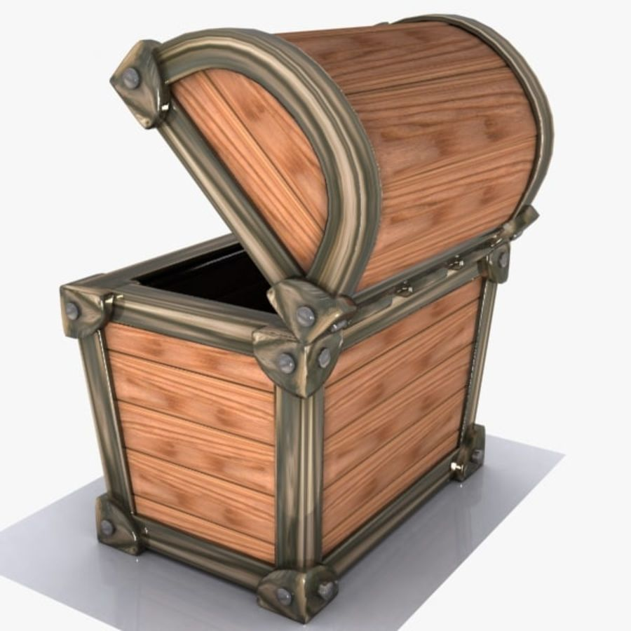 Crate Chest 3 royalty-free 3d model - Preview no. 6