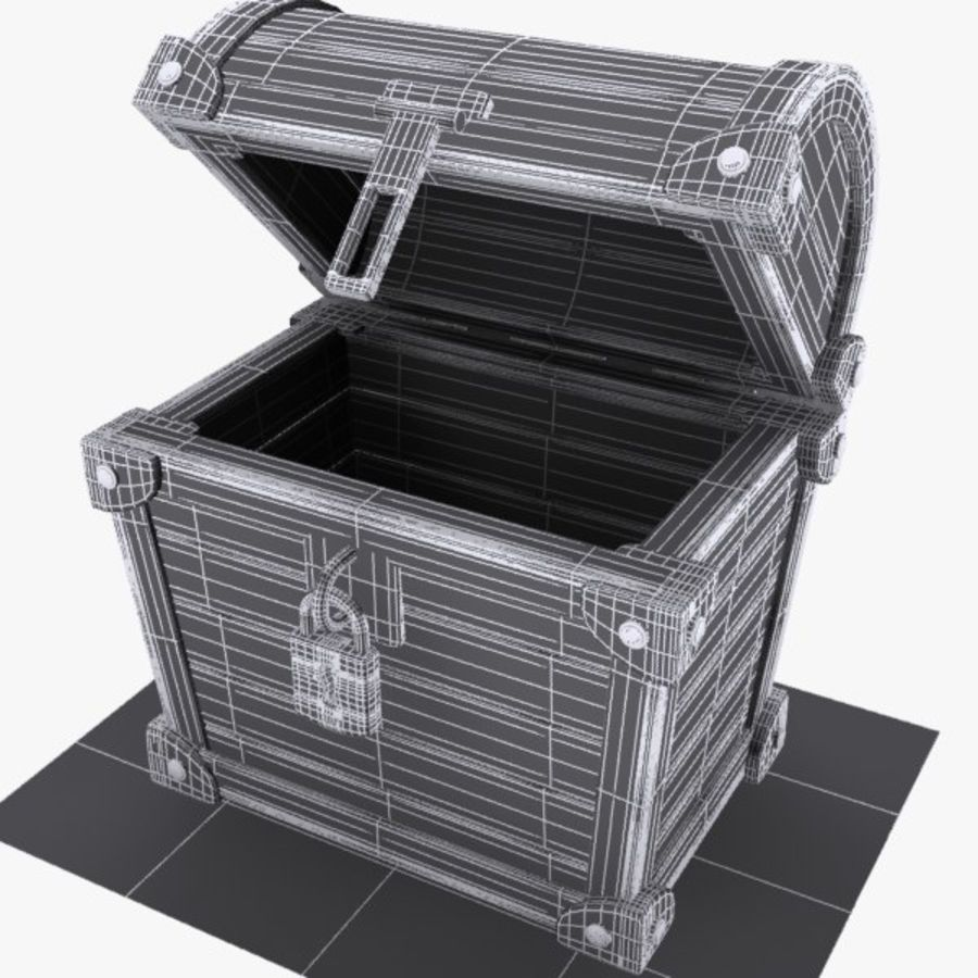Crate Chest 3 royalty-free 3d model - Preview no. 8