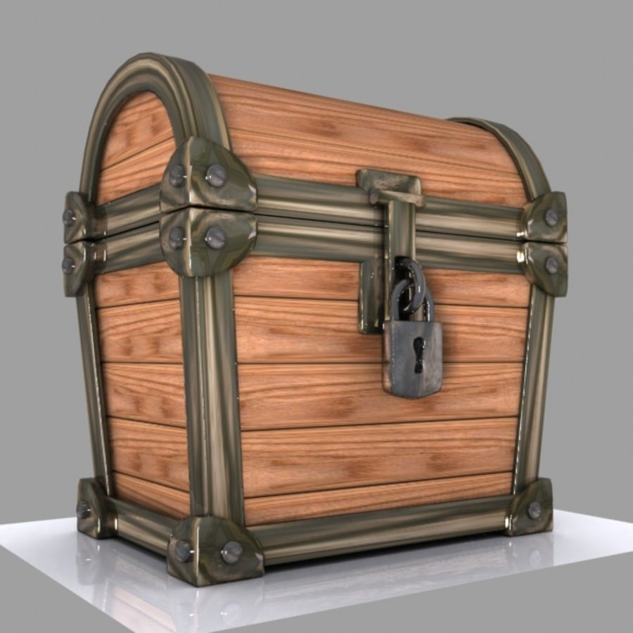 Crate Chest 3 royalty-free 3d model - Preview no. 5