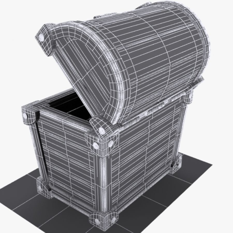 Crate Chest 3 royalty-free 3d model - Preview no. 9