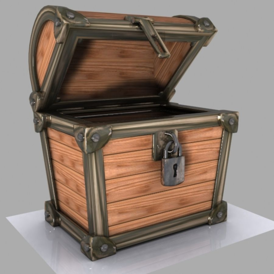 Crate Chest 3 royalty-free 3d model - Preview no. 2