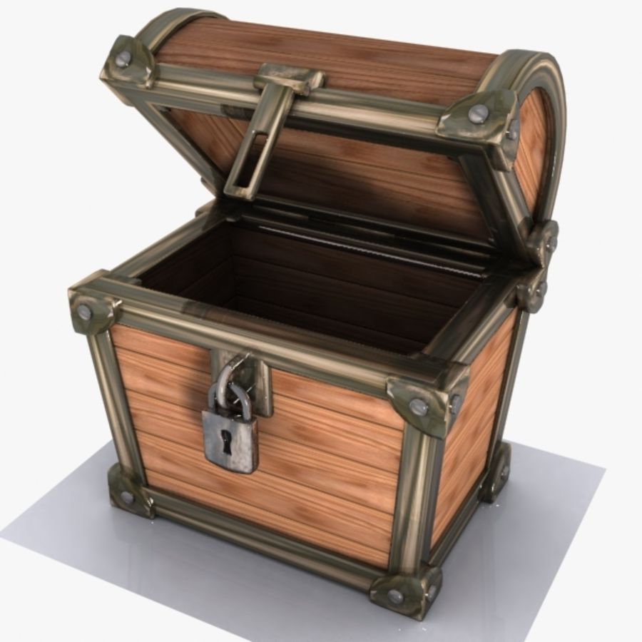 Crate Chest 3 royalty-free 3d model - Preview no. 3