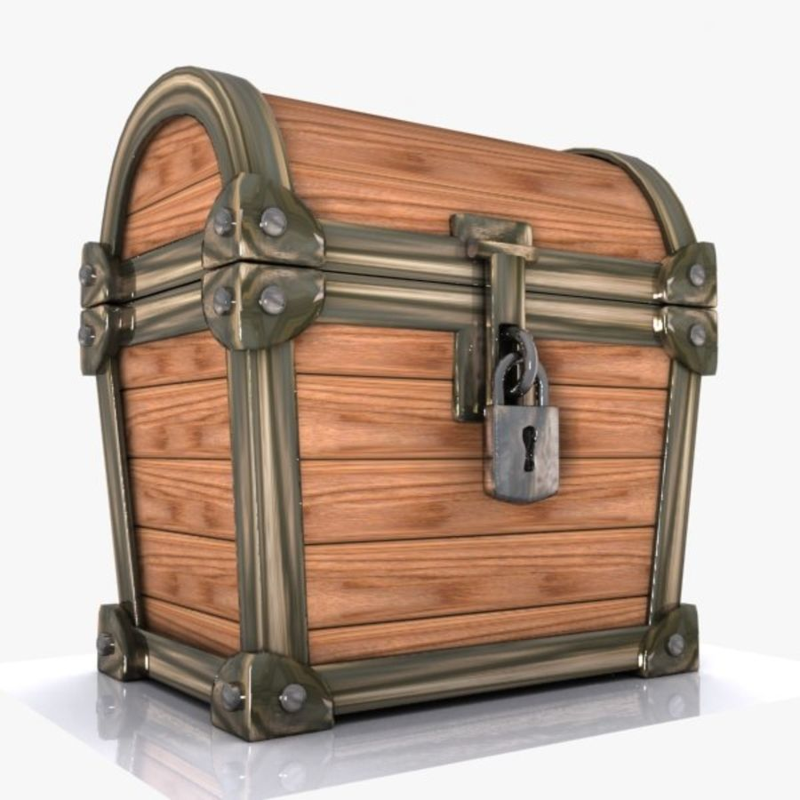Crate Chest 3 royalty-free 3d model - Preview no. 4
