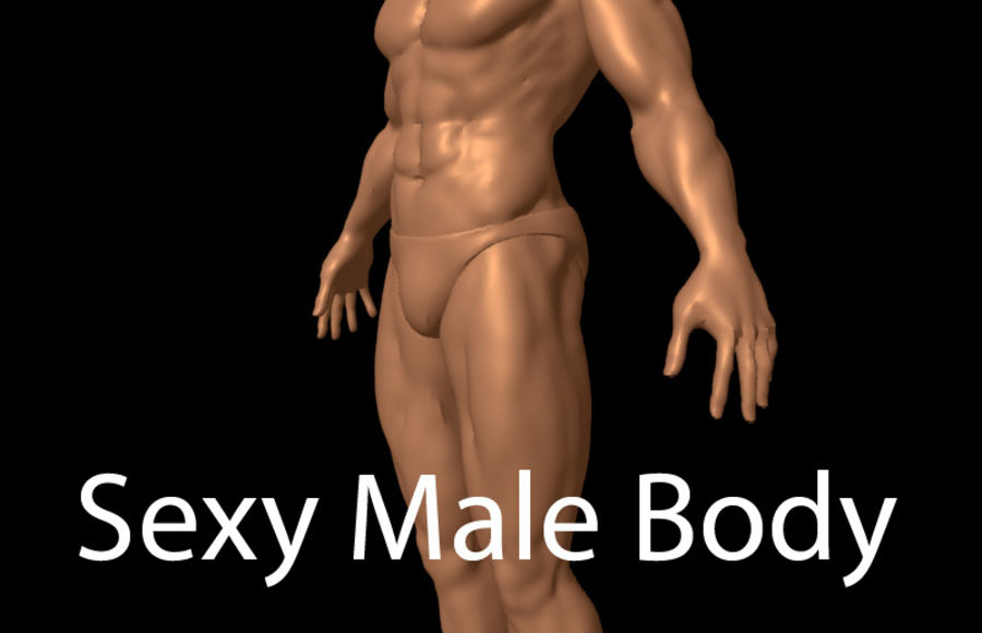 Sexy Male Body - Male Human Anatomy royalty-free 3d model - Preview no. 1