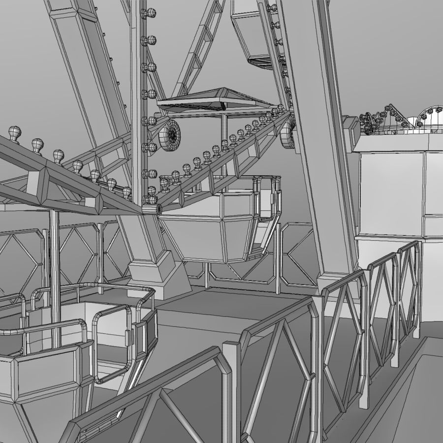 Ferris wheel royalty-free 3d model - Preview no. 23
