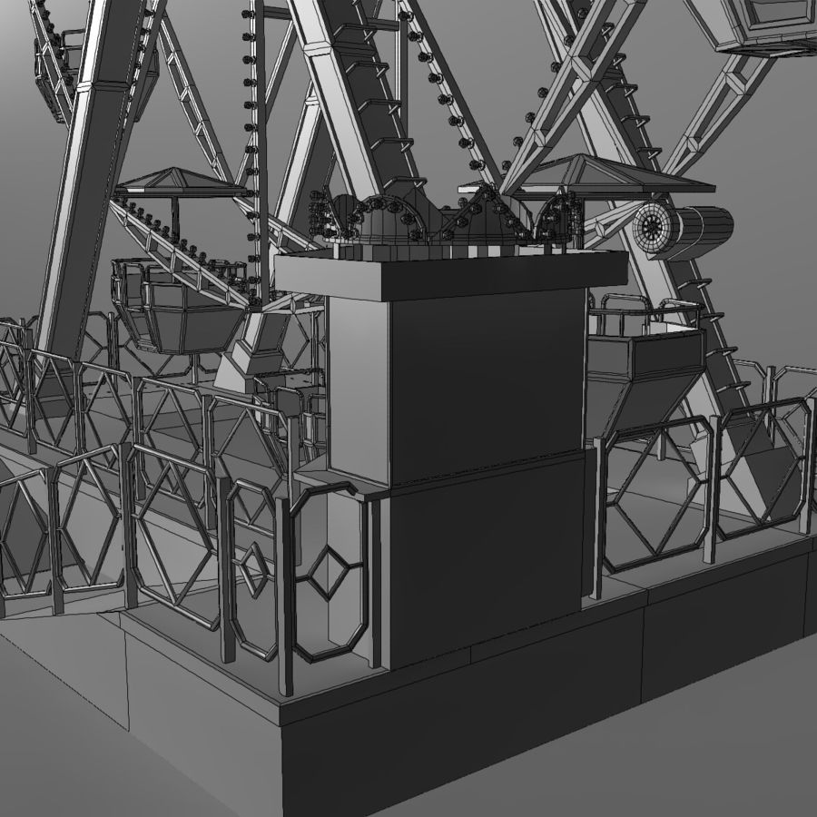 Ferris wheel royalty-free 3d model - Preview no. 21