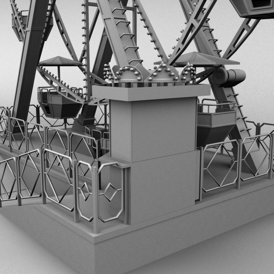 Ferris wheel royalty-free 3d model - Preview no. 12