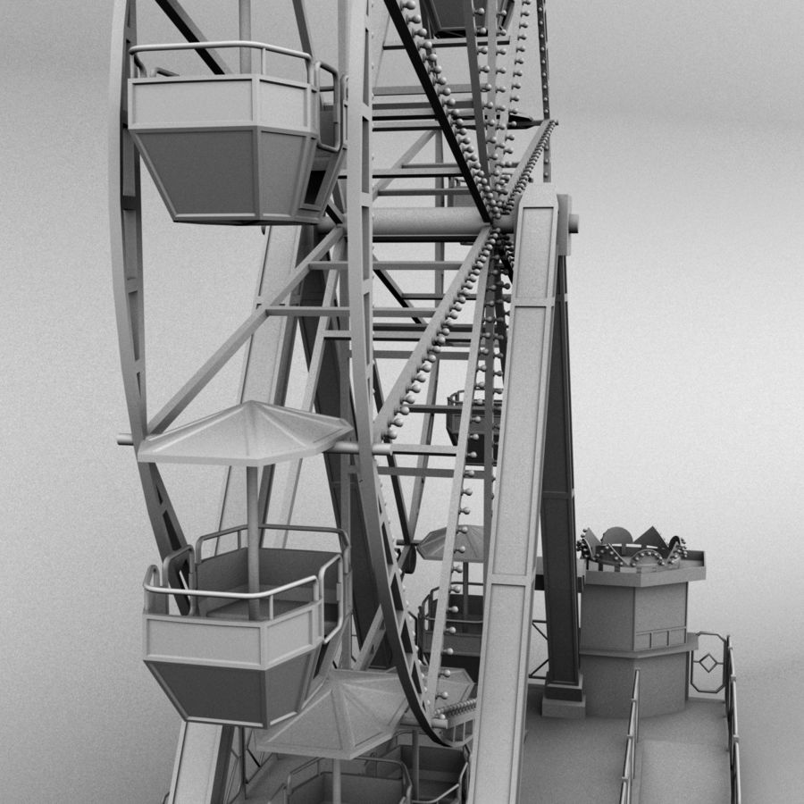 Ferris wheel royalty-free 3d model - Preview no. 16