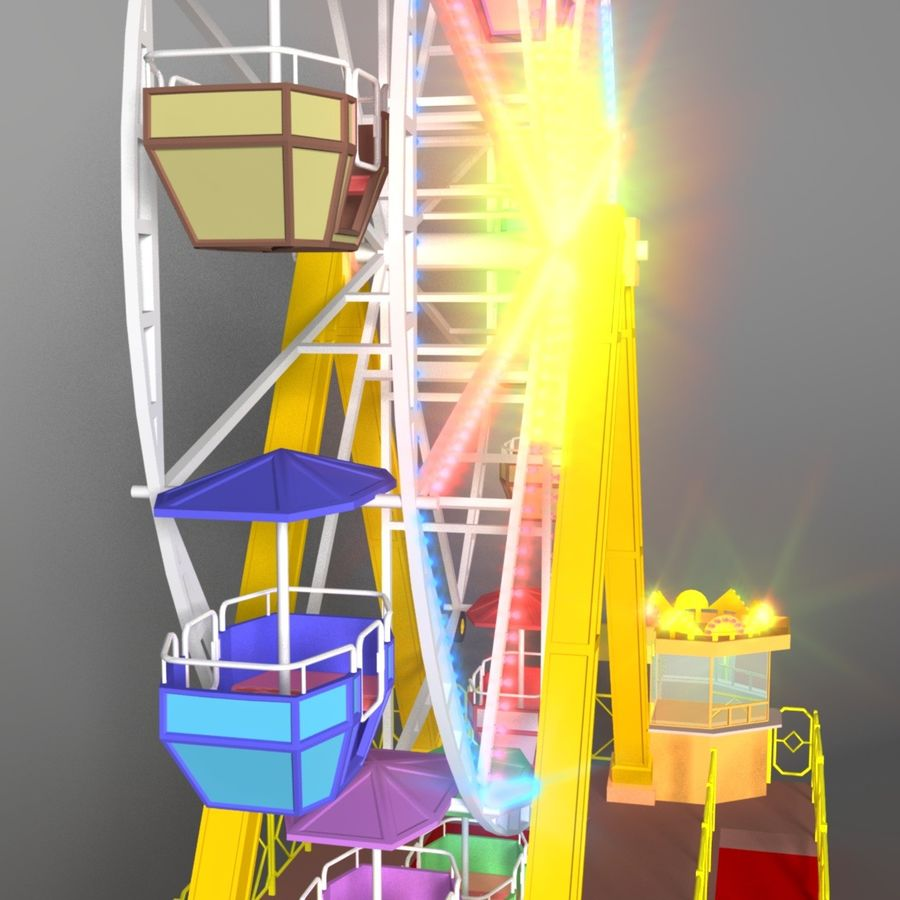 Ferris wheel royalty-free 3d model - Preview no. 7