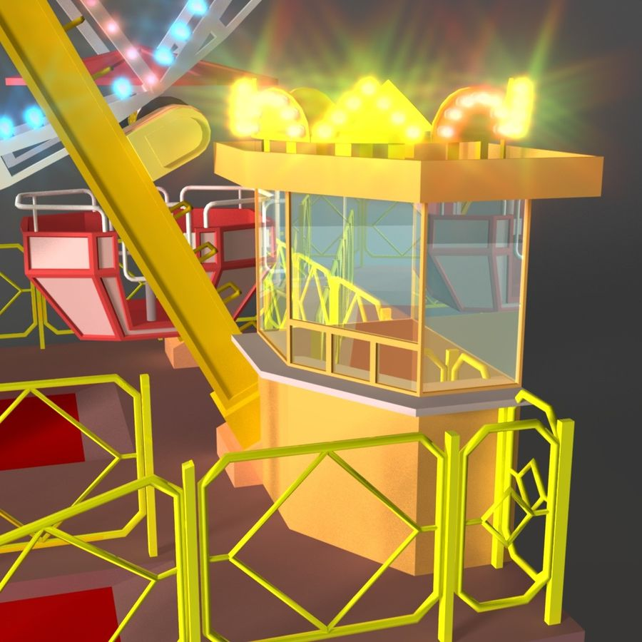 Ferris wheel royalty-free 3d model - Preview no. 8