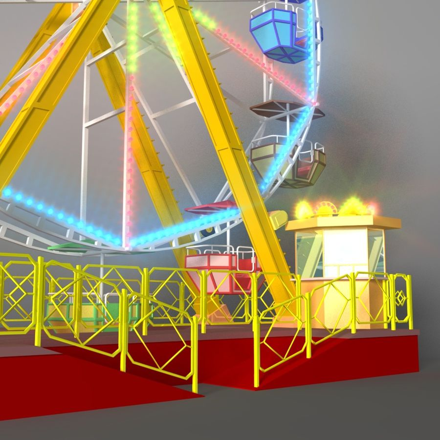 Ferris wheel royalty-free 3d model - Preview no. 2