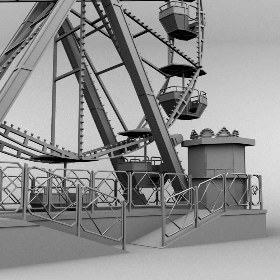 Ferris wheel royalty-free 3d model - Preview no. 13