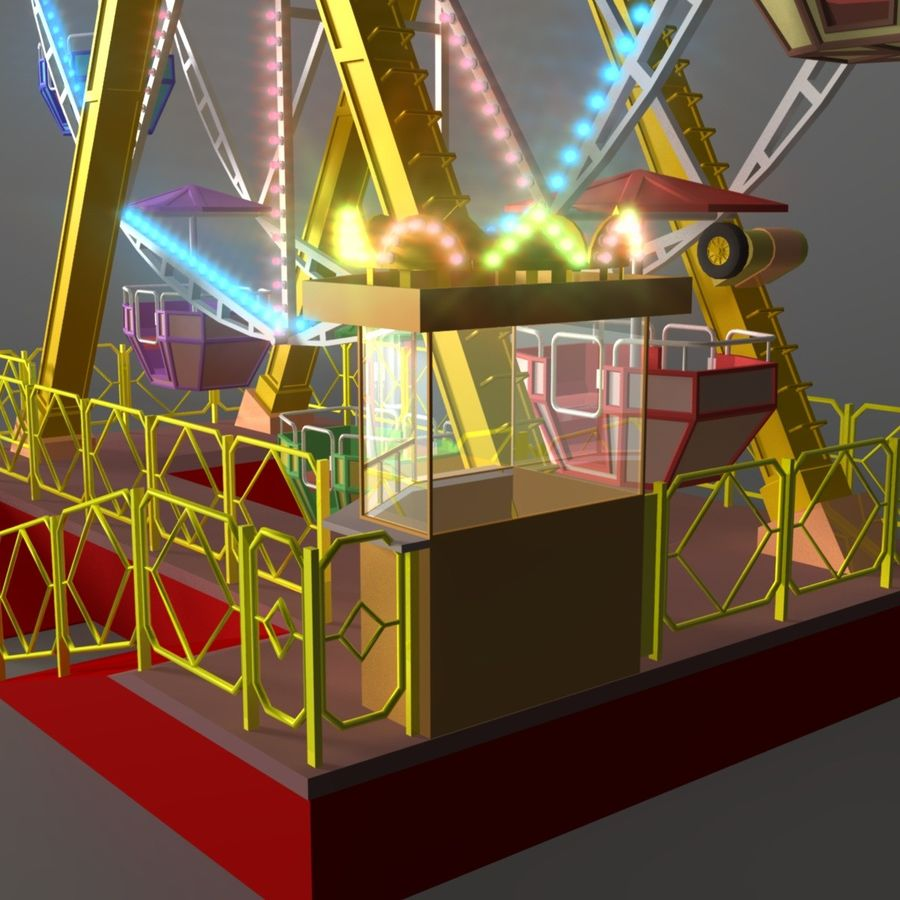 Ferris wheel royalty-free 3d model - Preview no. 4