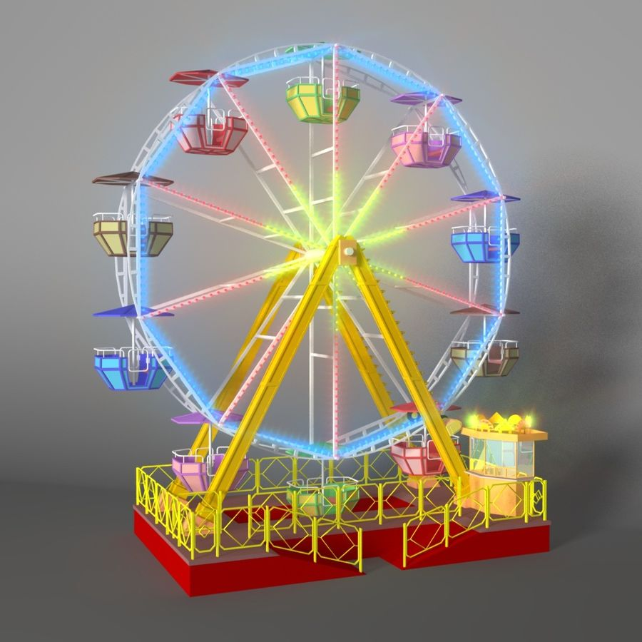 Ferris wheel royalty-free 3d model - Preview no. 1