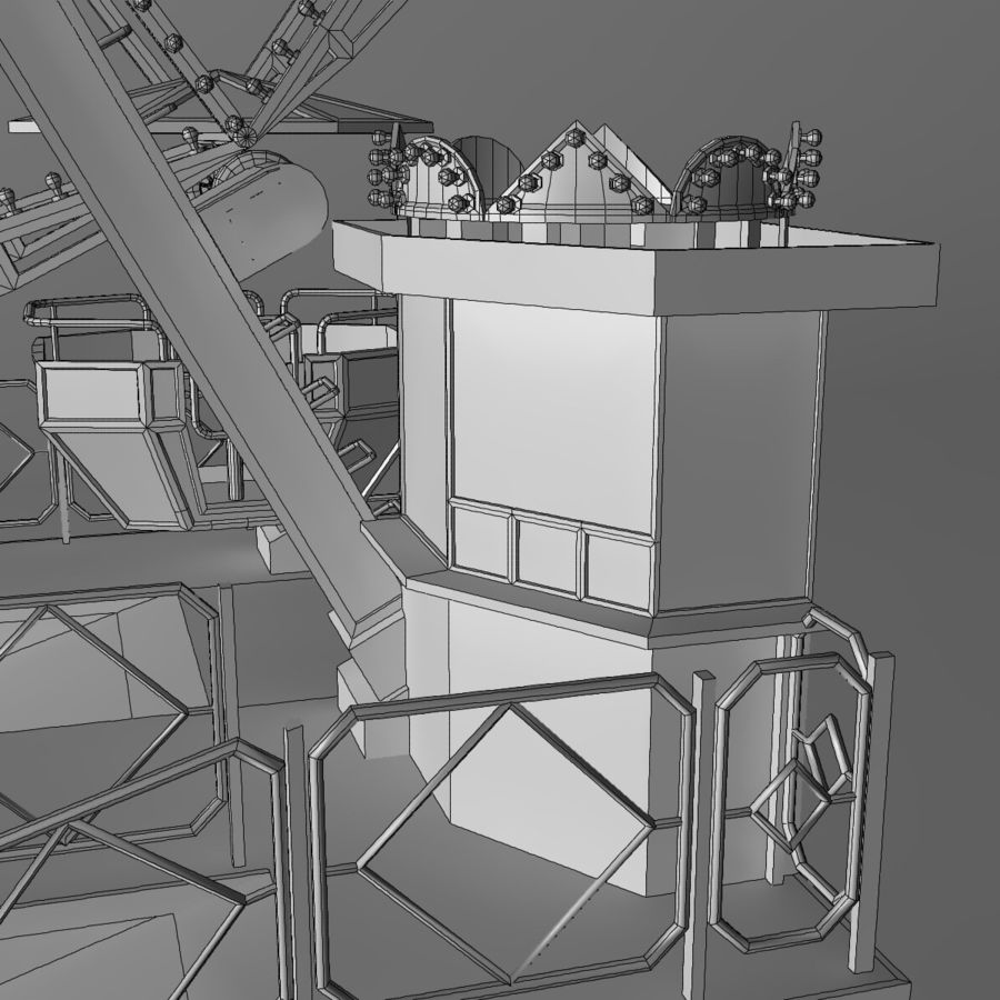 Ferris wheel royalty-free 3d model - Preview no. 22