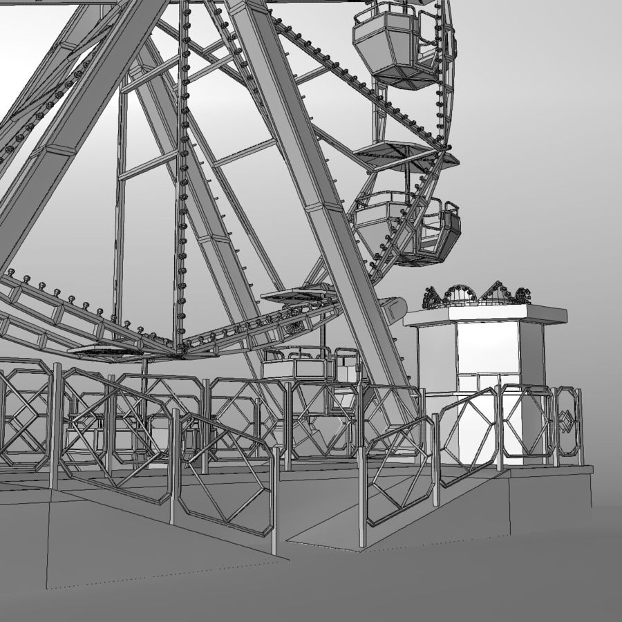 Ferris wheel royalty-free 3d model - Preview no. 18