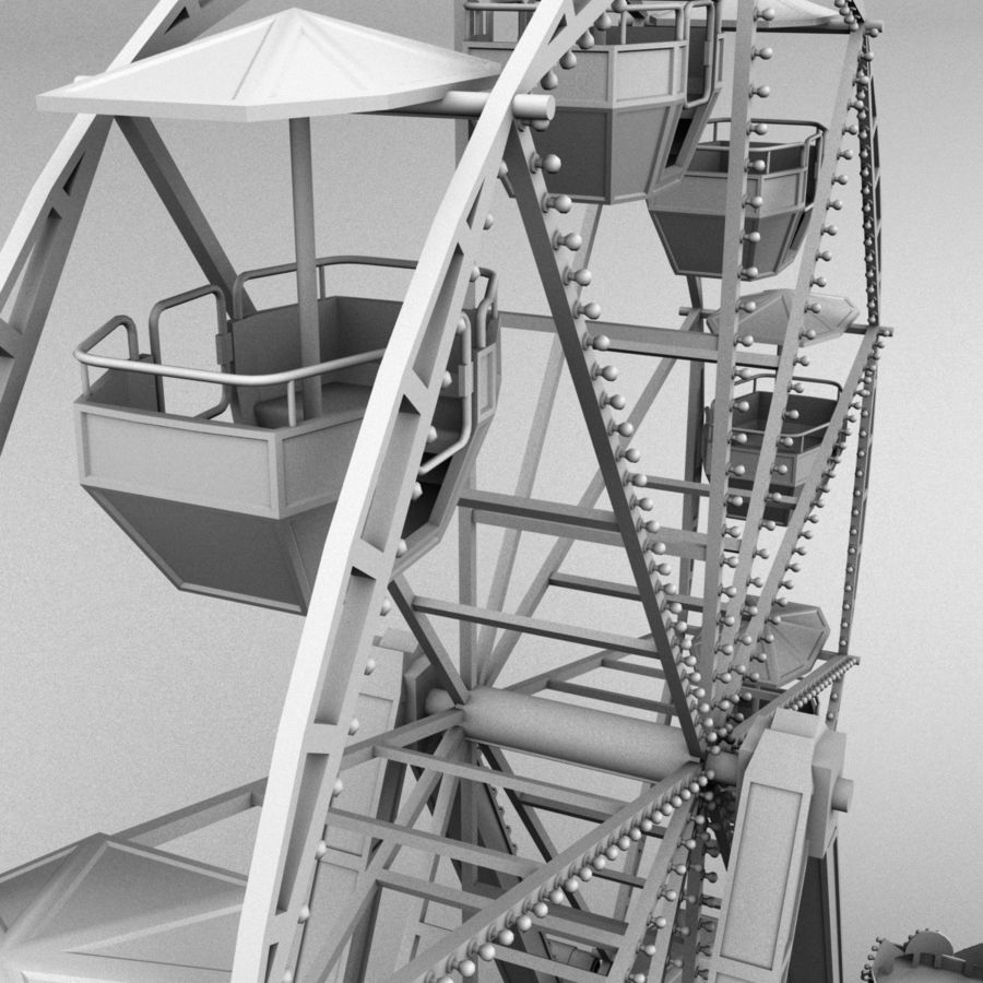 Ferris wheel royalty-free 3d model - Preview no. 10