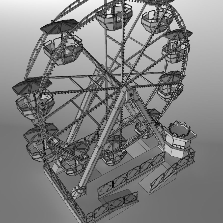 Ferris wheel royalty-free 3d model - Preview no. 19