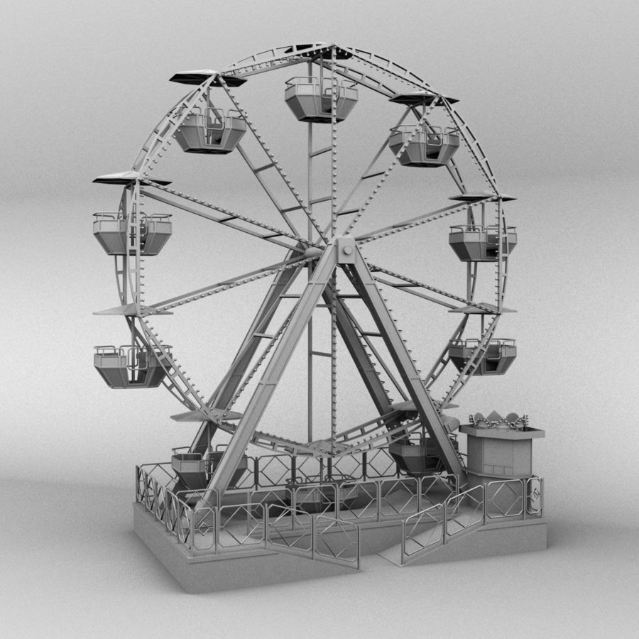 Ferris wheel royalty-free 3d model - Preview no. 9